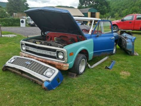buy used 1971 chevy c10 stepside pickup project or parts in noxen pennsylvania united states