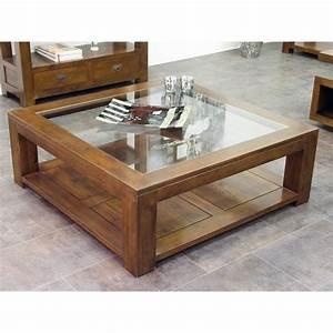 Table Salon Carrée : table basse vitr e h v a 80x80xm helena pier import ~ Teatrodelosmanantiales.com Idées de Décoration