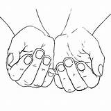 Hands Cupped Coloring Praying Pages Female Drawing Hand Open God Drawings Heart Getdrawings Place sketch template