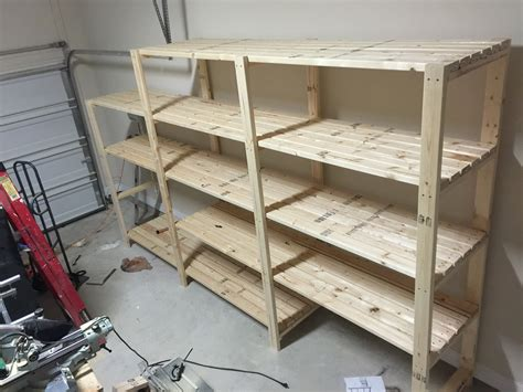 Shelving Projects by White Garage Shelving Diy Projects