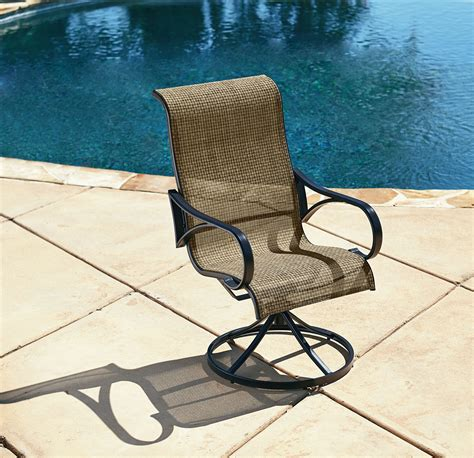 grand resort oak hill single swivel dining chair