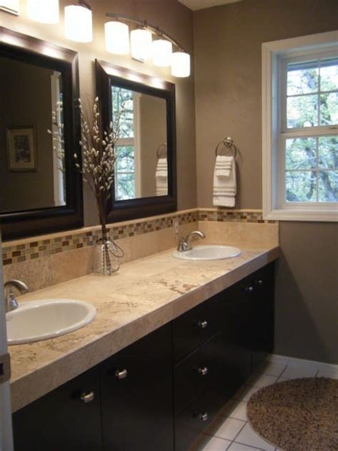 Brown Color Schemes For Bathrooms by Neutral Color Brown And Beige Bathroom Rustic Modern