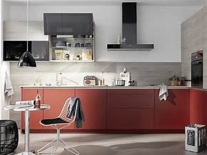 Rote Arbeitsplatte Küche : colorado grifflose k che mit mattlackfronten in rot ~ Sanjose-hotels-ca.com Haus und Dekorationen