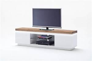 Tv Lowboard Mit Tv Halterung : tv tisch romina media element weiss matt tv lowboard ~ Michelbontemps.com Haus und Dekorationen