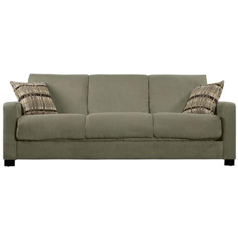 microfiber sectional sleeper portfolio trace convert a couch sage grey microfiber futon
