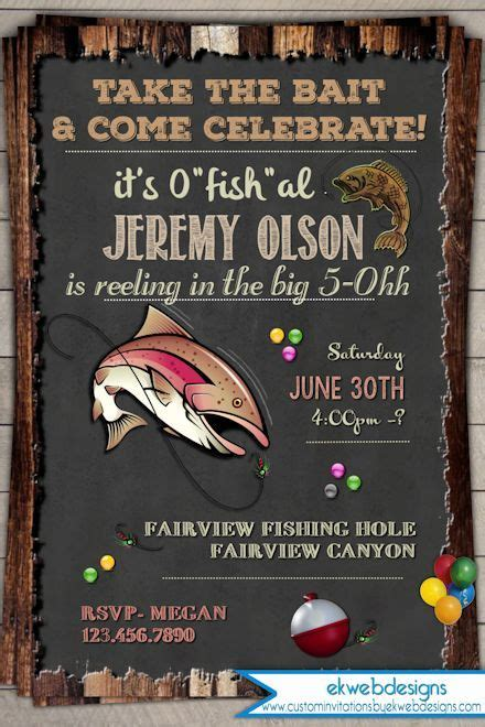 Fishing  Ee  Birthday Ee   Invitation Invite Th Th Th Th