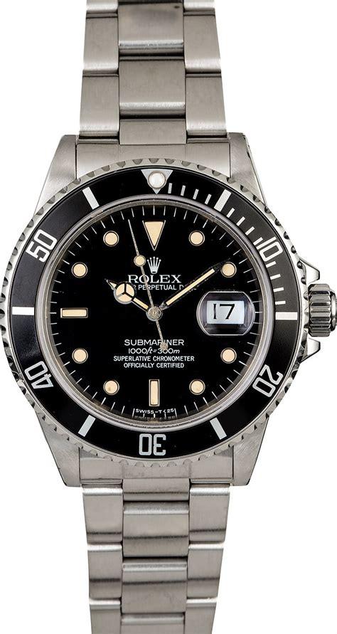 Men's Rolex Submariner 16800 Stainless Steel Oyster