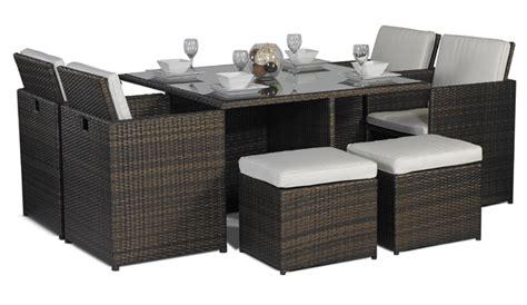 4 8 seat cube rattan garden furniture set