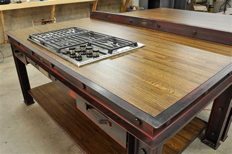 metal kitchen furniture firehouse kitchen island model fh4 vintage industrial