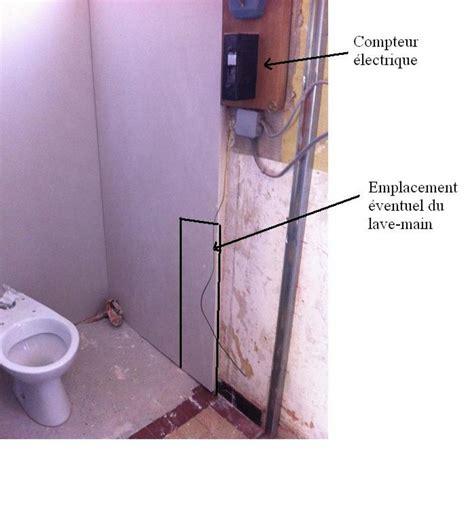 emplacement du lave dans les toilettes