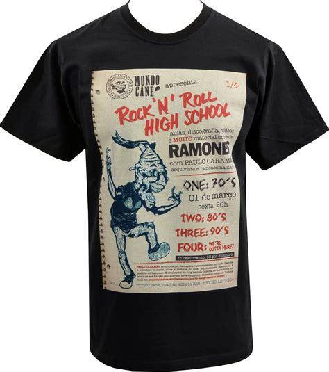 Gabba Hey Store Mens T Shirt Ramones Rock Roll Highschool American