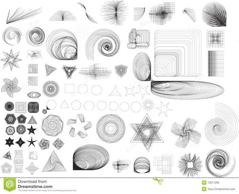 Abstract Shapes Collection by Abstract Shapes Collection Stock Illustration