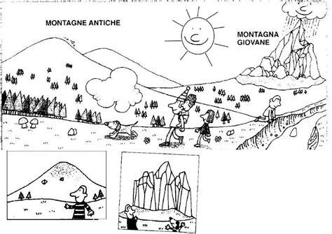 la montagna disegni da colorare geografia pinterest
