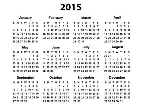 2015 Printable Calendars 2015 Calendar Printable Free Large Images
