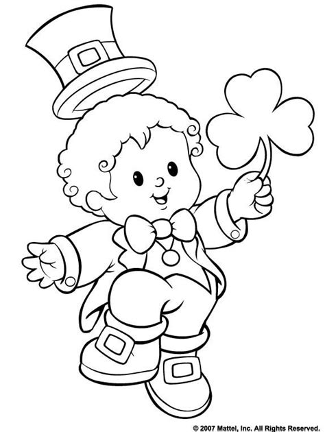 st patricks day coloring pages images