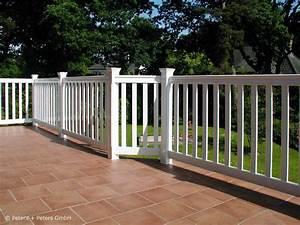 Geländer Holz Terrasse : gel nder f r balkon garten und terrasse hartholz weiss ral mit 25 jahren garantie ~ Watch28wear.com Haus und Dekorationen