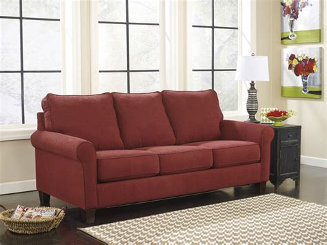 sleeper sofa ashley zeth crimson sofa sleeper signature design by furniture