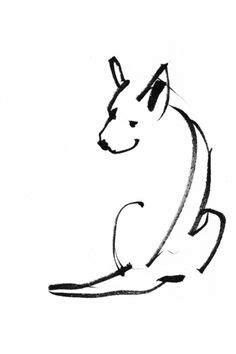simple dog tattoo - Google Search | Tattoo! | Drawings, Dog tattoos, Dog illustration