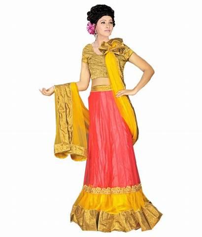 Yellow Lehanga Abhinandan Sarees
