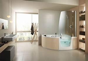 Eckbadewanne Mit Dusche : duschwand f r badewanne sorgt f r mehr stil und komfort ~ Markanthonyermac.com Haus und Dekorationen
