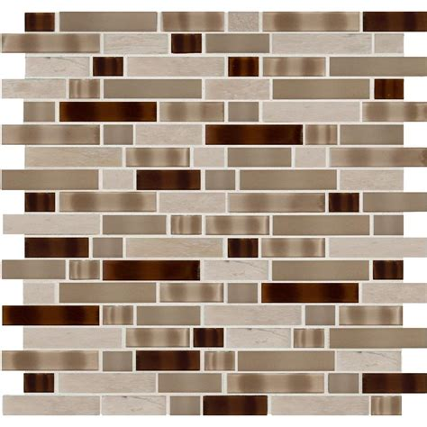 home depot tuscany hours ms international tuscan trail interlocking 12 in x 12 in x 8 mm glass stone mesh mounted