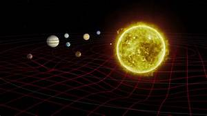 Solar System Distortion Grid. Planets Orbit And Show The ...