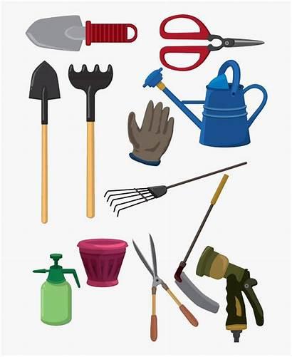 Tools Cartoon Gardening Garden Clipart Tool Spade