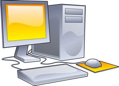 clipart computer file desktop computer clipart yellow theme svg