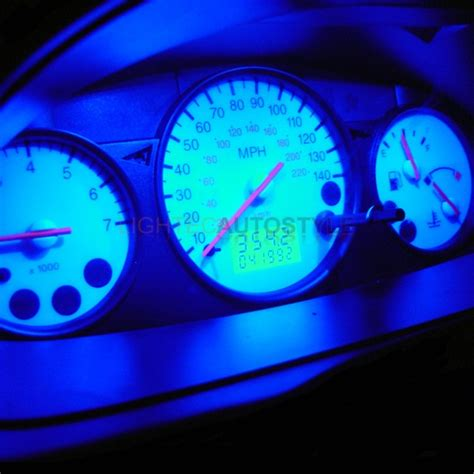 ford fiesta blue speedo dash led kit interior light ebay