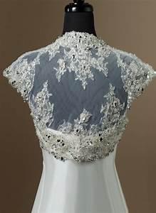Heavily beaded tulle sleeveless bolero bridal for Wedding dress bolero