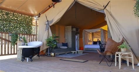 safari tent balgownie estate resort bendigo