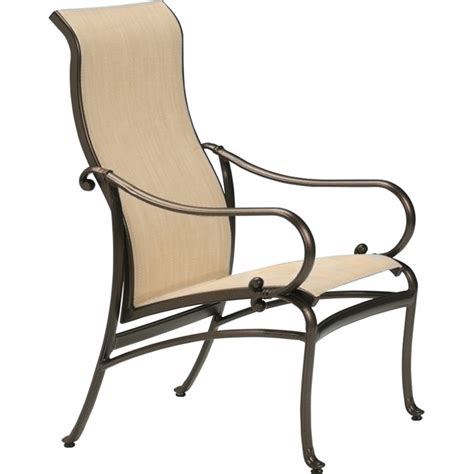 tropitone 450401 radiance sling high back dining chair