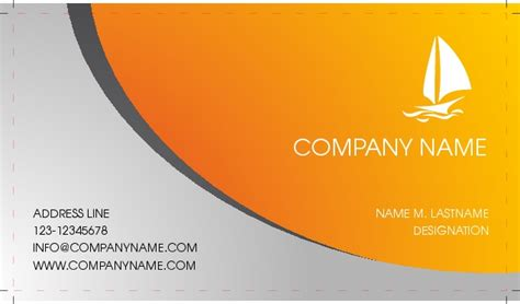 business card single side