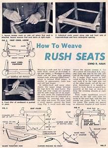 Chair Rush Seat • WoodArchivist