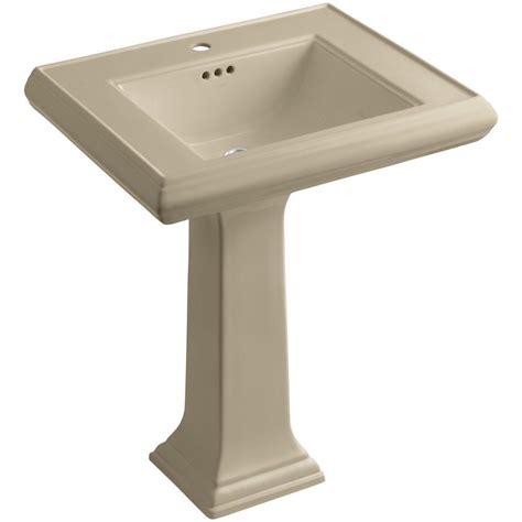 kohler reve 39 in ceramic pedestal bathroom sink combo in
