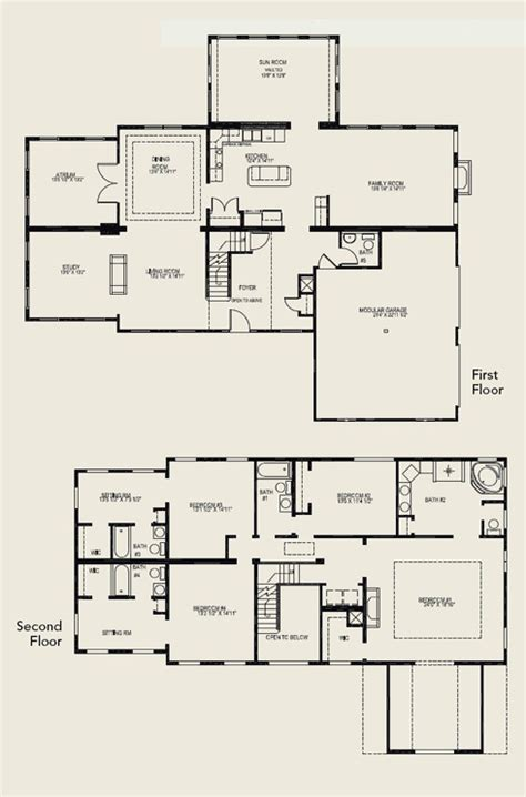 2 house plans with 4 bedrooms two house plans