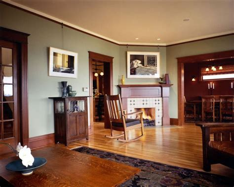 mission style paint colors craftsman living room