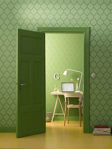 Wohnen In Grün : tapete zuhause wohnen marburg gr n ornament 57146 ~ Markanthonyermac.com Haus und Dekorationen