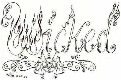 Denise Tattoo Wicked Wells Word Font Flower