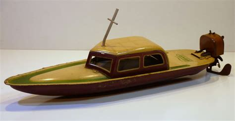 Speed Boat Length by Antique Tin Paya Spain 1930 S Speedboat Daycruiser