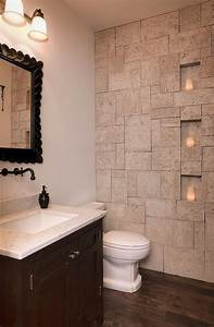 Wall designs for bathrooms : Exquisite and inspired bathrooms with stone walls
