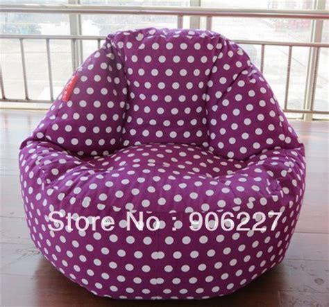 large size purple dots beanbag lounge adults