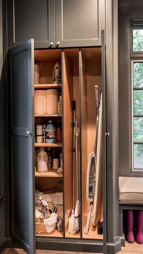 broom closet organization saved  houzzcom laundry