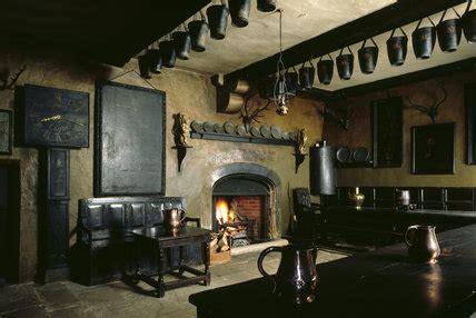 view   servants hall  chirk castle showing  oak