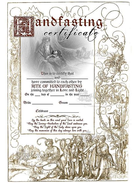 certificate of wiccan ordination template free handfasting certificate template playinterchange