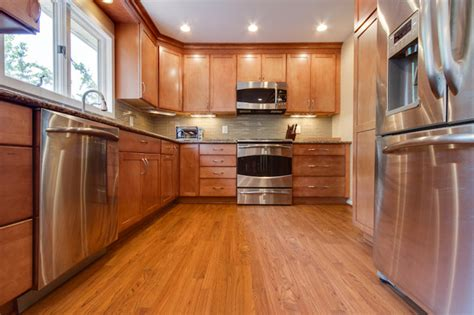 Reico Cabinets Elkridge Md by Contemporary Kitchen Remodel Maple Toffee Contemporary