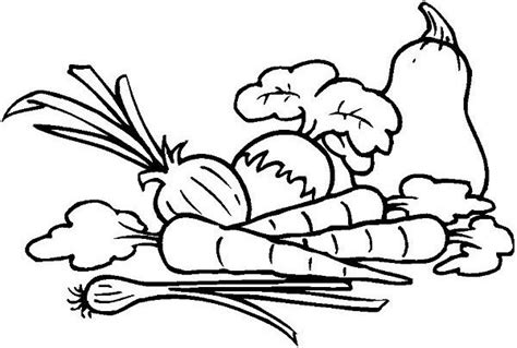 coloring page vegetables clipart panda  clipart images