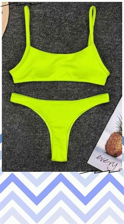 Swimwear Swimsuit Micro Bikini Thong Yellow Beachwear