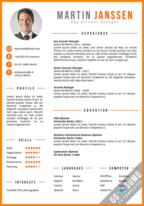 Layout Cv by 6 Cv Layout Templates Theorynpractice