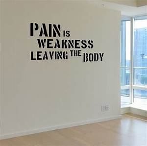 pain is weakness gym motivational wall decal quote With the best motivational wall decals for gym